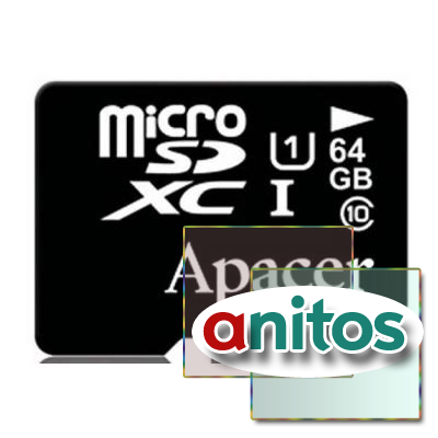 Apacer microSDXC 64GB High-Capacity (Class 10) UHS-1 w/o Adapter