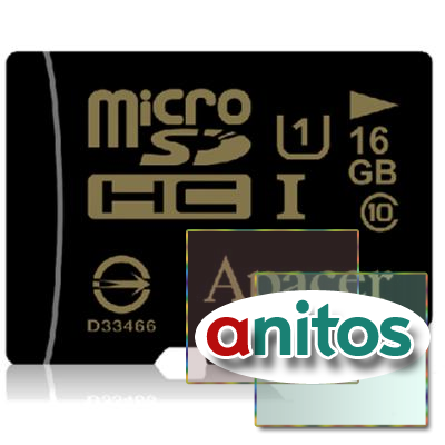 Apacer microSD 16GB High-Capacity (Class 10) UHS-1 w/o Adapter