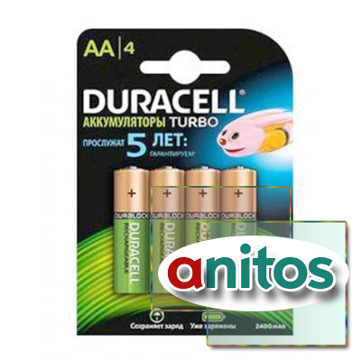 Duracell AA2500mAh/4BL Аккумулятор RechargeTURBO