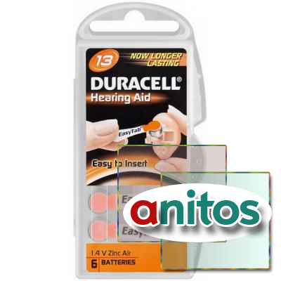 Duracell DA13/6BL ActiveAir Nugget Box ZA10