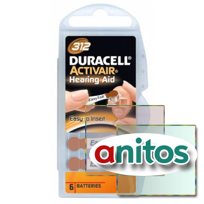 Duracell DA312/6BL ActiveAir Nugget Box ZA10