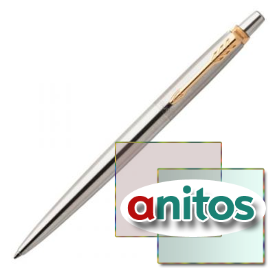Parker Jotter Core - Stainless Steel GT, шариковая ручка, M, шт