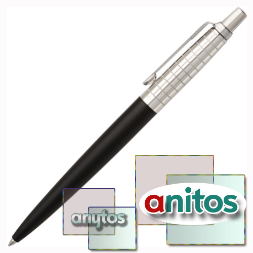 Parker Jotter Premium - Satin Black Stainless Steel Chiselled CT, шариковая ручка, M