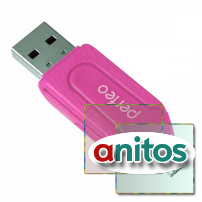 Perfeo Card Reader SD/MMC+Micro SD+MS+M2 + adapter with OTG, (PF-VI-O004 Pink) розовый