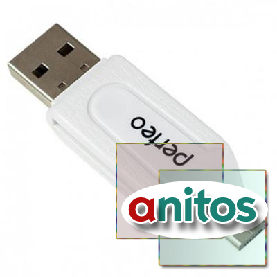 Perfeo Card Reader SD/MMC+Micro SD+MS+M2 + adapter with OTG, (PF-VI-O004 White) белый