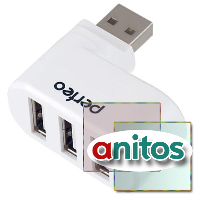Perfeo USB-HUB 3 Port, (PF-VI-H024 White) белый