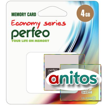 Perfeo microSD 4GB High-Capacity (Class 10) w/o Adapter economy series
