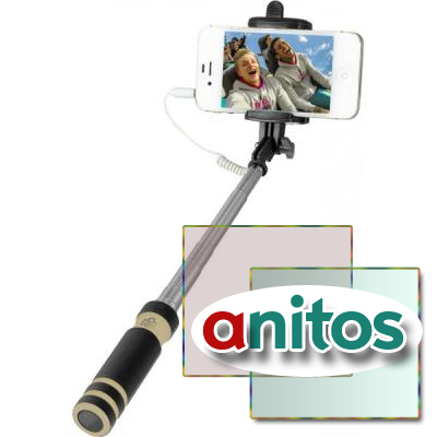 Perfeo Монопод для селфи M3 Selfie Stick/ 14-60 cm/ 3.5 mm audio cable/ Black