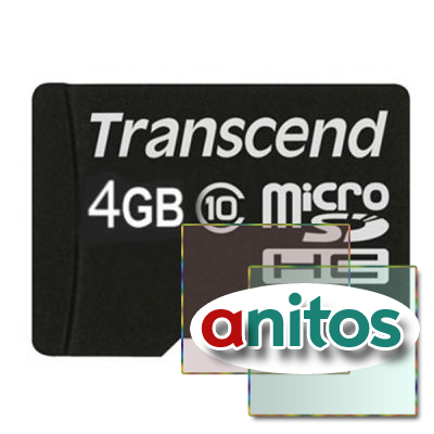 Transcend microSD 4GB High-Capacity (Class 10) w/o Adapters