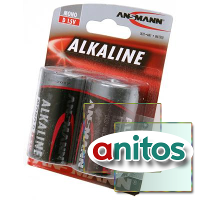 Батарейка большая А04 ANSMANN RED 1514-0000 LR20   BL2