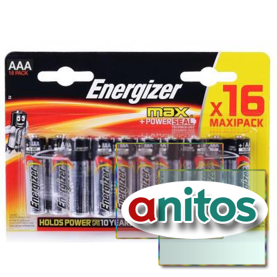 батарейка Energizer MAX+Power Seal LR03 BL16