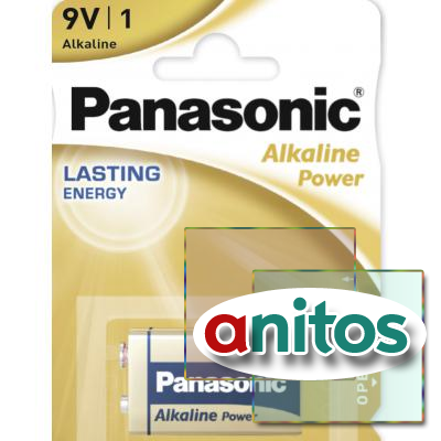 батарейка PANASONIC 6LR61/1BL Alkaline Power