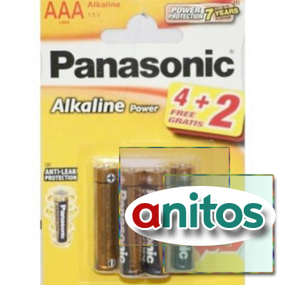 батарейка PANASONIC LR03/(4+2)BL Alkaline Power