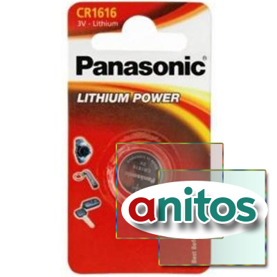 Батарейка дисковая литиевая PANASONIC CR1616/1BL Lithium Power