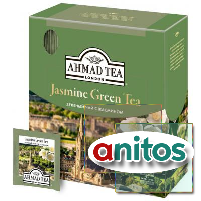Чай Ahmad Green Jasmine Tea зеленый 100пак/уп