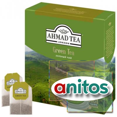 Чай Ahmad Green Tea зеленый 100пак/уп 77355