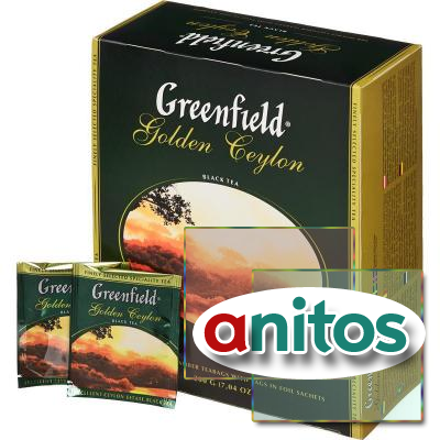 Чай Greenfield Golden Ceylon черный фольгир.100пак/уп