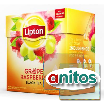Чай Lipton Grape Raspberry черный пирамидки 20пак/уп