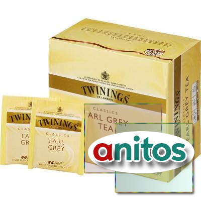 Чай Twinings Earl Grey Tea черн.50 пак/уп
