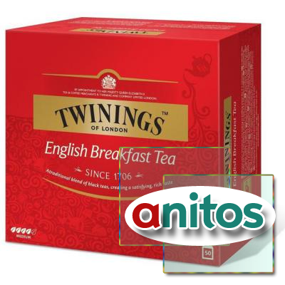Чай Twinings English Breakfast Tea черн.50 пак/уп