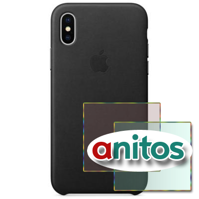 Чехол Apple iPhone X Leather Case - Black(MQTD2ZM/A)