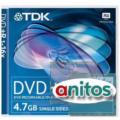 диск TDK DVD+R 4,7 GB 16x JC/10