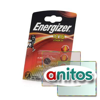 Батарейка дисковая литиевая Energizer CR1216 BL1 NEW