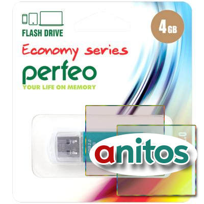 флэш-накопитель Perfeo USB 4GB E01 Green economy series