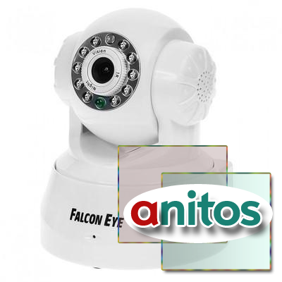 Камера Falcon Eye FE-MTR300WT-P2P,поворот.беcпров,0,3Мп,белая