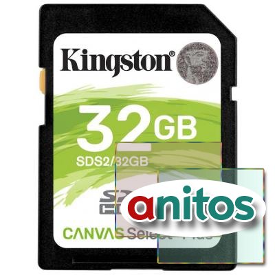 Карта памяти Kingston Canvas Select Plus SDHC UHS-I Cl10, SDS2/32Gb