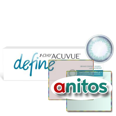 Контактные линзы 1-Day Acuvue Define C:=Sparkle R:=8.5 D:=-8,00 30шт/уп