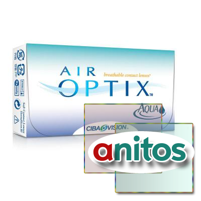 Контактные линзы Air Optix Aqua R:=8.6 D:=-4,00 6шт/уп
