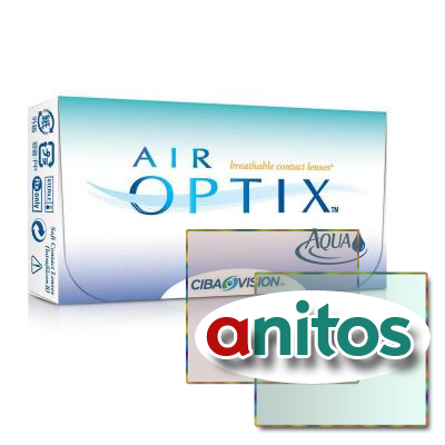 Контактные линзы Air Optix Aqua R:=8.6 D:=-6,50 6шт/уп