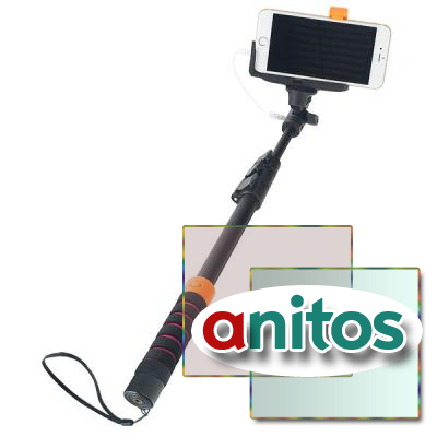 Монопод Perfeo M8 Selfie Stick/ 40-122 cm/ 3.5 mm audio cable/ Big holder/ Go-Pro adapter/ Black