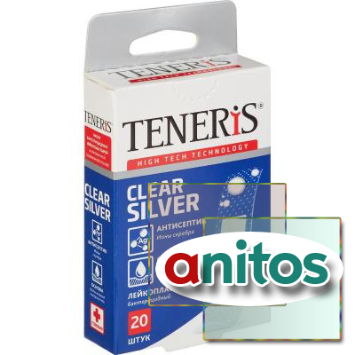 Набор пластырей Clear Silver , Teneris 20 шт/уп.