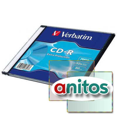 Носители информации Verbatim CD-R 700Mb 52x DL SL/1