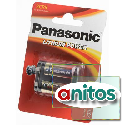 батарейка фотолитиевая Panasonic Lithium Power 2CR-5L/1BP 2CR5 BL1