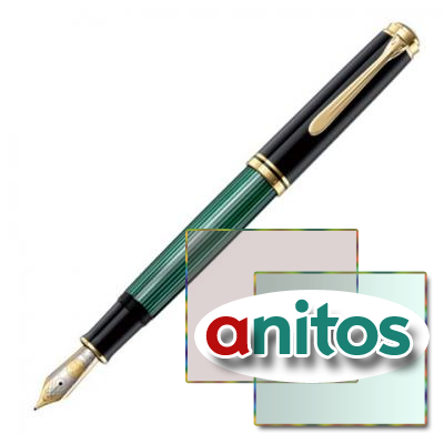 Pelikan Souveraen - Black and Green GT, перьевая ручка, M