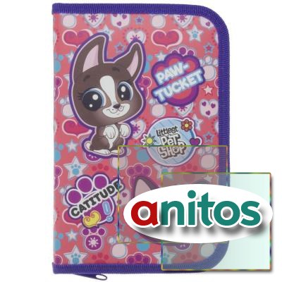 Пенал Littlest Pet Shop 20,5 х 14 х 3,5 см, LPGB-UT1-031PR