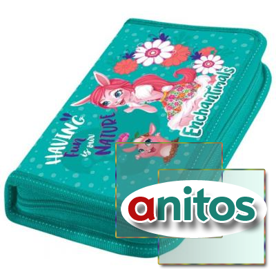 Пенал Mattel Enchantimals 1 отд., с наполн., 42501816