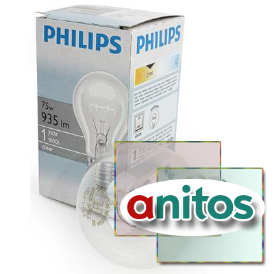Лампа накаливания PHILIPS A55 75W E27 CL 354594