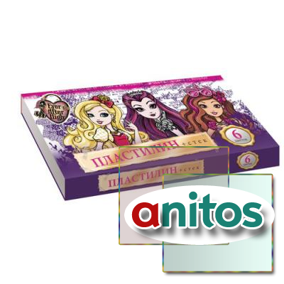 Пластилин Ever after High 6цв стек 4704131