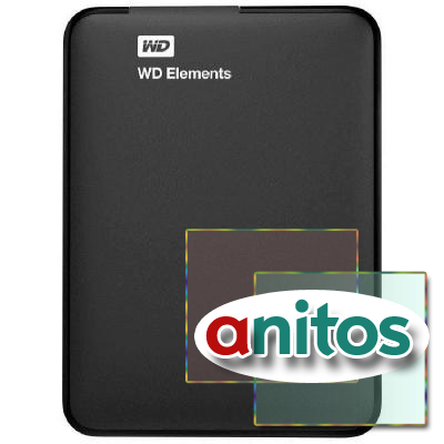 Портативный HDD WD Elements Port. 500GB USB3.0(WDBUZG5000ABK-WESN)черн