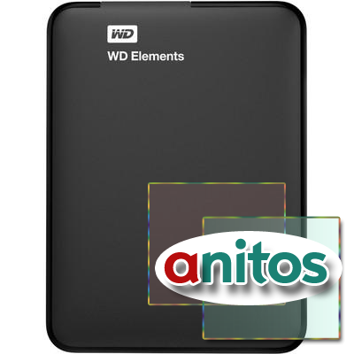 Портативный HDD WD Elements Portable 1Tb USB3.0(WDBUZG0010BBK-EESN)черн