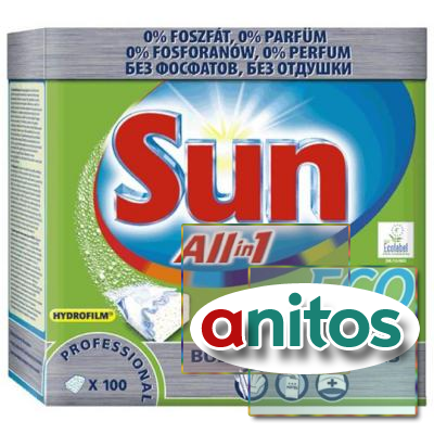 Таблетка для ПММ SUN Professional All in 1 100 шт/уп.