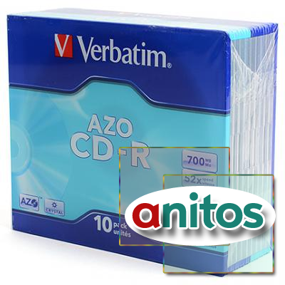 Компакт диск CD записываемый Verbatim 43415 CD-R DL SL/10 700MB