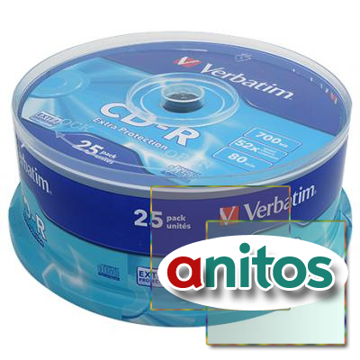 Компакт диск CD записываемый Verbatim 43432 CD-R DL CB/25 700MB