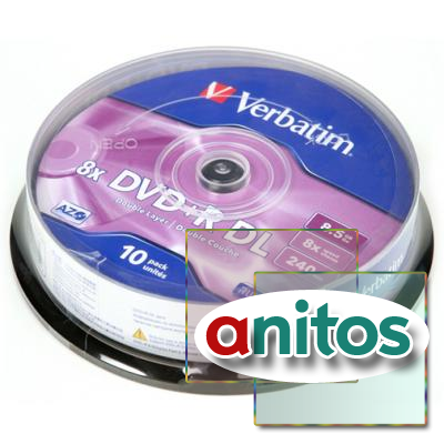 Компакт диск DVD записываемый Verbatim 43666 DVD+R 8.5 GB 8x CB/10 Double Layer