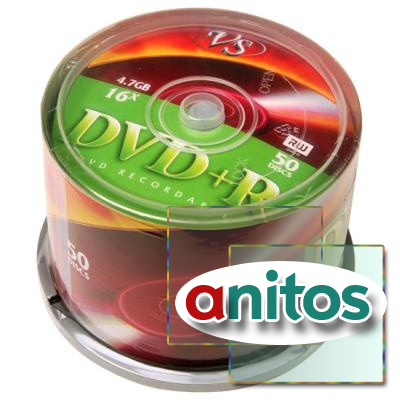 Компакт диск DVD записываемый VS DVD+R 4.7 GB 16x CB/50