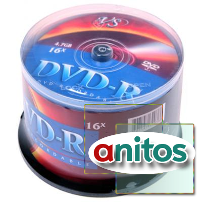 Компакт диск DVD записываемый VS DVD-R 4.7 GB 16x CB/50